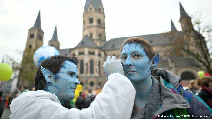 Demonstration gegen Klimaerwärmung in Bonn COP23 (Getty Images/AFP/S. Schuermann)