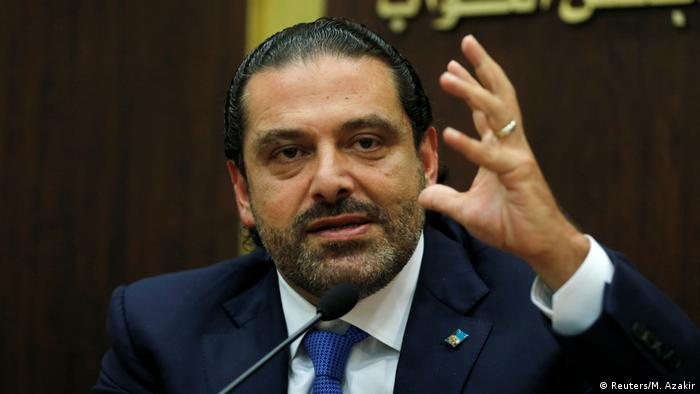 Saad Hariri at a Press Conference (Reuters/M. Azakir)
