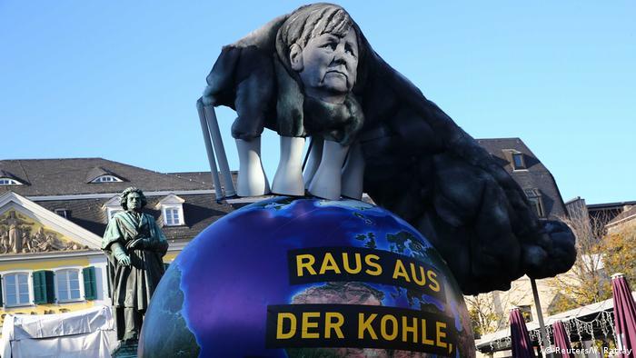 Митинг в защиту климата в Бонне