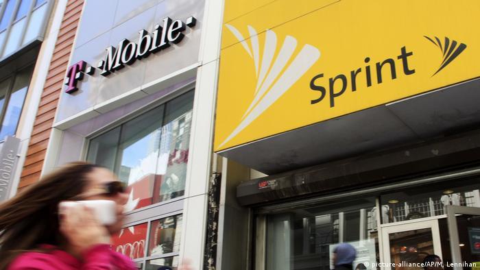 USA New York T-Mobile und Sprint Filialen