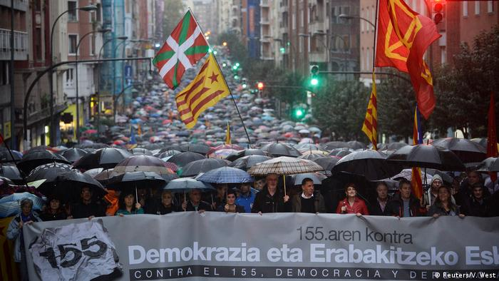 Spanien Bilbao Demonstration gegen Artikel 155 (Reuters/V. West)