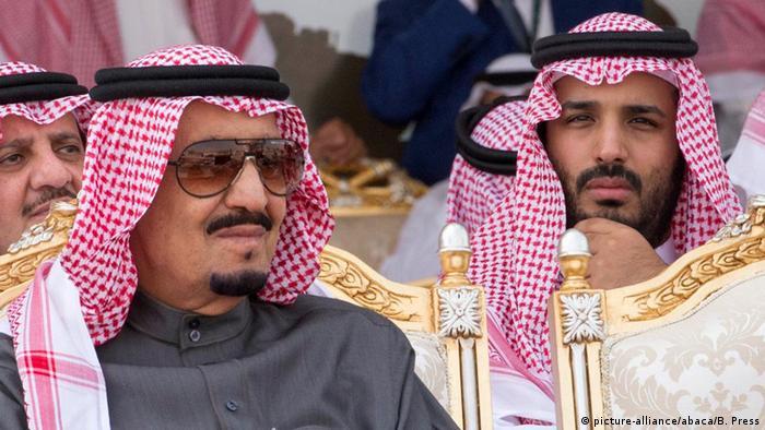 Король Саудовской Аравии Сальман бен Абдель Азиз Аль Сауд и наследный принц Мухаммед бен Сальман