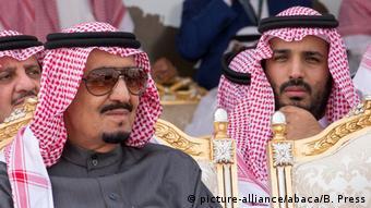 König Salman Bin Abdul Aziz Al Saud und Kronprinz Mohammed Bin Salman Al Saud