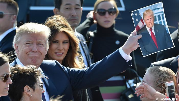 US President Donald Trump and wife Melania