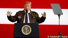 Japan Ankunft Präsident Trump