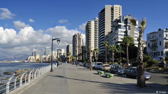 Uferpromenade von Beirut, Libanon