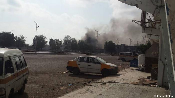 Selbstmordanschlag auf Gebäude der Sicherheitskräfte im jemenitischen Aden (Imago/Xinhua)