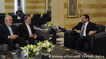 Libanon Beirut - Saad Hariri, Ali Akbar Velayati (picture-alliance/AP Photo/D. Nohra)
