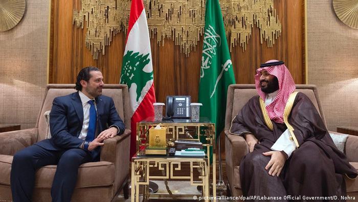 Saudi Arabien Riad - Mohammed bin Salman und Saad Hariri (picture-alliance/dpa/AP/Lebanese Official Government/D. Nohra)
