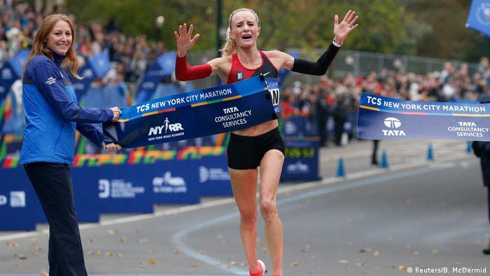 USA Marathon in New York City | Shalane Flanagan, USA (Reuters/B. McDermid)