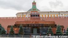 13.10.2017 Der Rote Platz in Moskau (Russland) mit dem Lenin-Mausoleum und der Mauer vom Kreml, aufgenommen am 13.10.2017. Foto: Jens Kalaene/dpa-Zentralbild/ZB | Verwendung weltweit