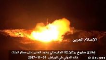 Jemen Videostill Raketenabschuß auf Saudi-Arabien