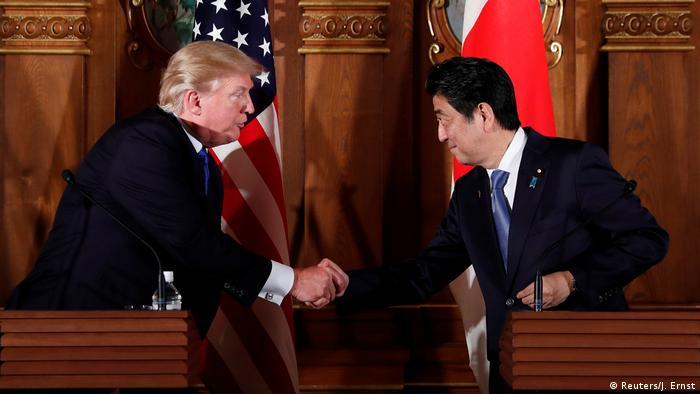 Japan PK Donald Trump und Shinzo Abe