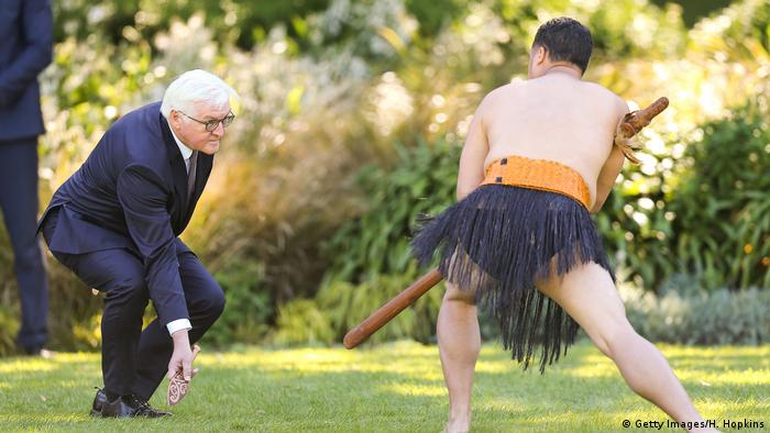 Neuseeland Bundespräsident Steinmeier in Wellington (Getty Images/H. Hopkins)