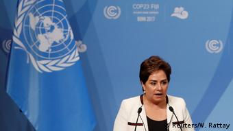 Patricia Espinosa speaking at COP23 (Reuters/W. Rattay)