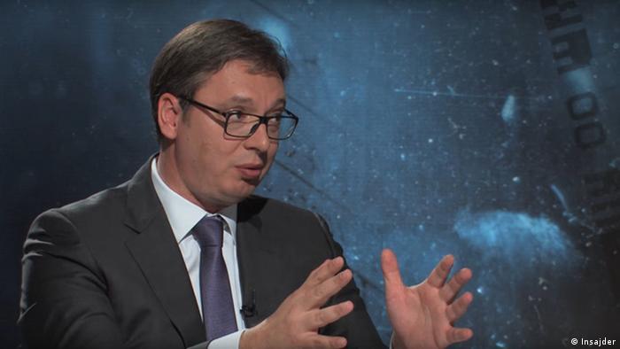 Serbien Präsident Aleksandar Vucic
