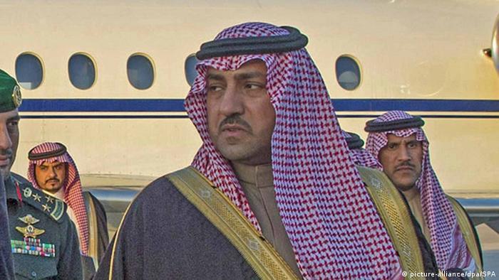 Saudi-Arabien Riad König Philippe Belgien Turki bin Abdullah al-Saud (R) (Ausschnitt) (picture-alliance/dpa/SPA)