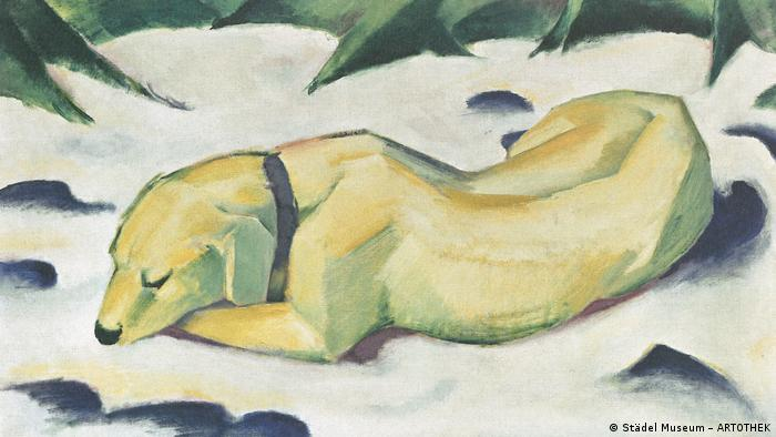 Franz Marc: Dog lying in the snow (1911) (© Städel Museum – ARTOTHEK)