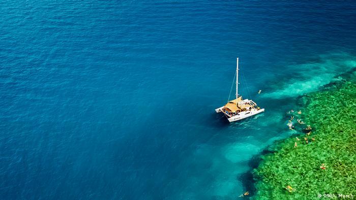 O recife de coral de mamanuca