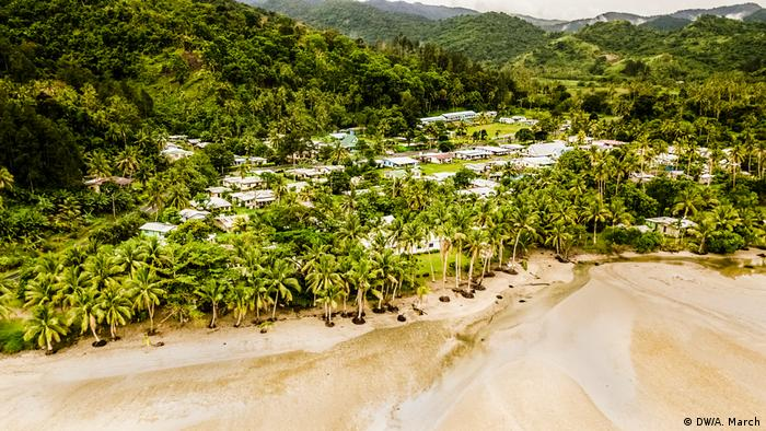 Vista aérea de Namatakula, Fiji