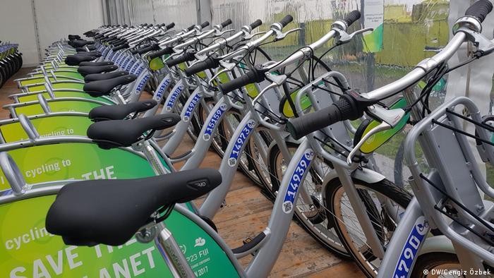 Fahrräder wurden den Teilnehmern der UN-Klimakonferenz in Bonn zur Verfügung gestellt