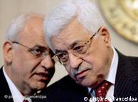 محمود عباس (راست) و صائب عریقات؛ رهبران فلسطینی هیچگاه از مواضع خود سر باز نزدهاند؟