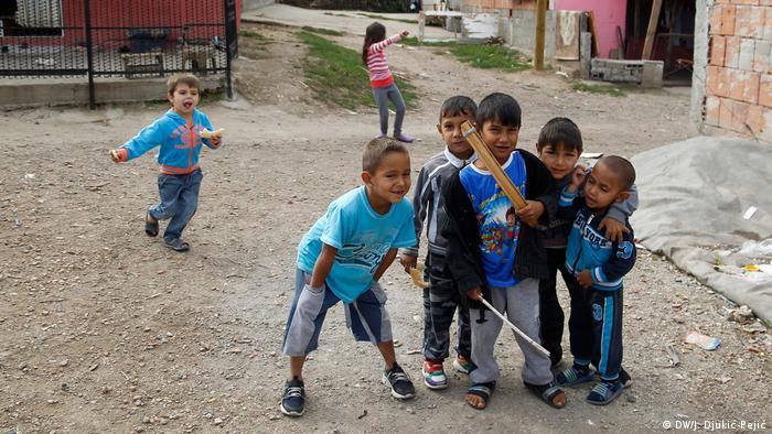 Serbien Roma-Kinder in Niš