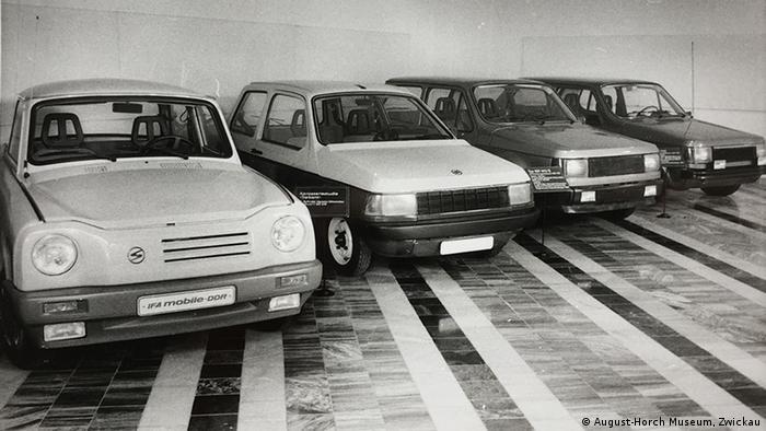 Прототипы Trabant в музее в Цвиккау