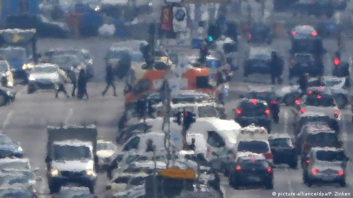 Smog in Berlin, Germany