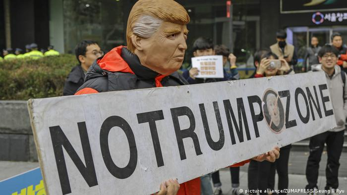 Seoul protests against US President Trump