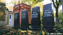 Grab der Brüder Grimm am Alter St-Matthäus Kirchhof in Berlin. (c) DW/Clarissa Neher