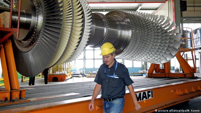 Siemens gas turbine (picture alliance/dpa/W. Kumm)