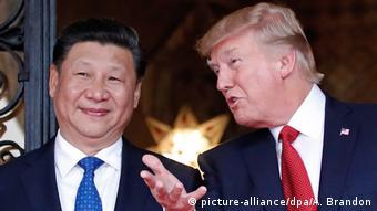 Südkorea Besuch US-Präsidenten Donald Trump bei Xi Jinping (picture-alliance/dpa/A. Brandon)