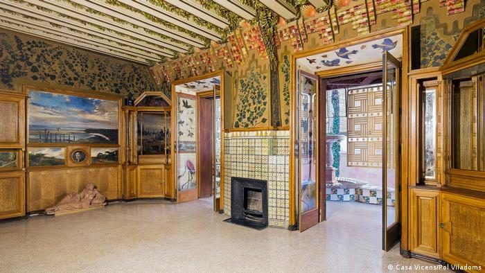 Частный жилой дом под названием Дом Висенс в Барселоне