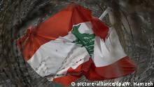 Libanon Flagge in Beirut