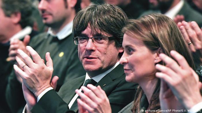 Carles Puigdemont (picture-alliance/AP Photo/G.V. Wijngaert)