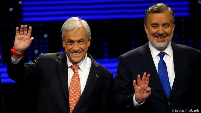 Chile Präsidentschaftskandidaten Sebastian Pinera (L) und Alejandro Guillier (Reuters/I. Alvardo)