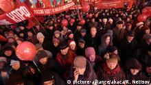 Russland Nowosibirsk Umzug der kommunistischen Partei