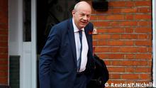 Damian Green, der Abgeordnete der britischen Premierministerin Theresa May, verlässt sein Zuhause in London