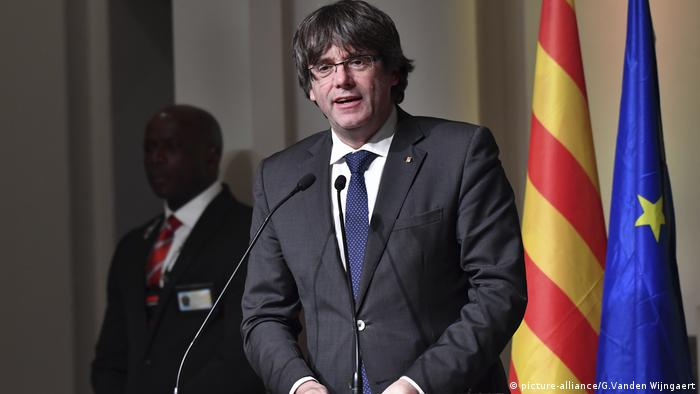 Deposed Catalan leader Carles Puigdemont