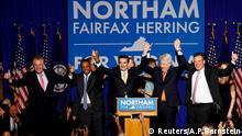USA, Gouverneur von Virginia, Ralph Northam, feiert seine Wahlnacht in Fairfax