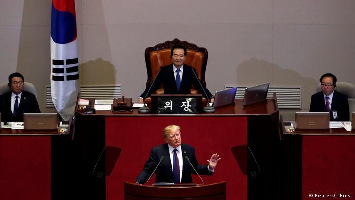 Südkorea Seoul Trump spricht in der Nationalversammlung (Reuters/J. Ernst)