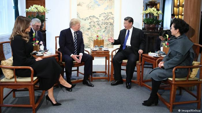 China USA Donald Trump & Xi Jinping & Ehefrauen in Peking (Imago/Xinhua)