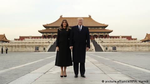 US President Donald Trump and First Lady Melania Trump in Peking