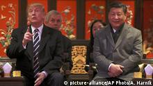 China Peking Xi Jinping und Donald Trump