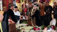Die Trauung der Tochter des indonesischen Präsidenten Joko Widodo