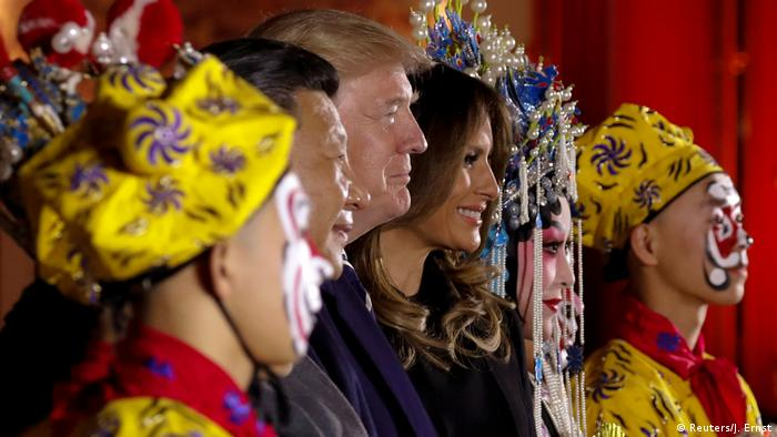 China USA Donald Trump & Xi Jinping | Verbotene Stadt in Peking (Reuters/J. Ernst)