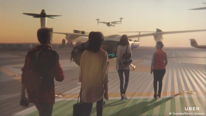 Uber Sky-Taxis (Youtube/Denís Iglesias)