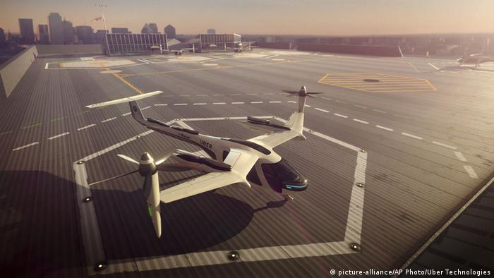 Uber Flying Taxi (picture-alliance/AP Photo/Uber Technologies)