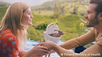 Screenshot Video-Kampagne Gesundheitsministerium Polen (Poland Ministry of Health)